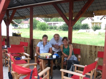 Kladova, Serbia. Zerka, of the Kladova Kayak Club, offers to help us after Sonja leaves.